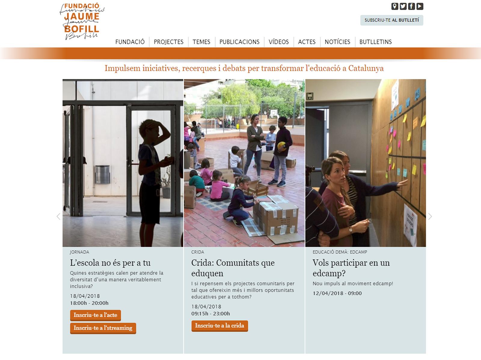 Projecte - motion graphics - Fundació Jaume Bofill - Iuris.doc | Màrqueting de continguts