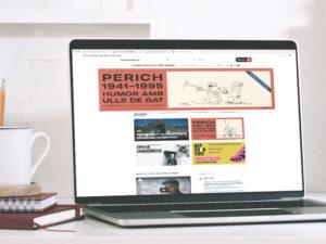 Un ordinador mostra el web d'El Born CCM