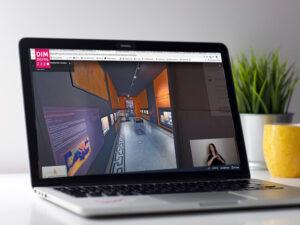 Pantalla d'ordinador mostrant una visita virtual del DIM2020