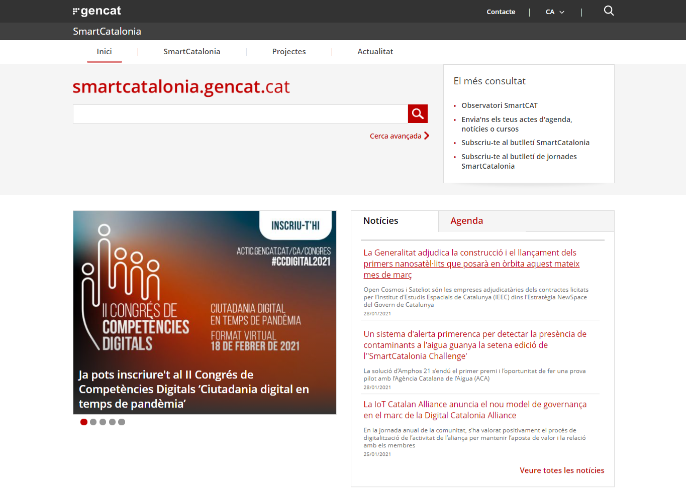 Auditoria accessibilitat web Smart Catalonia